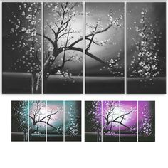 <li>Title: Blossoming in the Moonlight</li><li>Product type: Gallery-wrapped Canvas Print</li><li>Style: Contemporary</li>