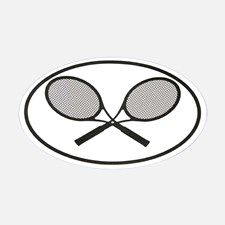 Tennis car stickers Oval Decal for