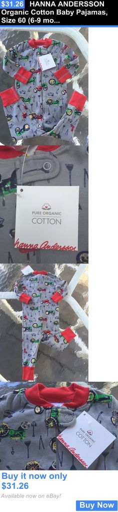 Baby Boys Clothing And Accessories: Hanna Andersson Organic Cotton Baby Pajamas, Size 60 (6-9 Months) Brand New!! BUY IT NOW ONLY: $31.26