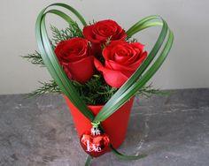 Cupid   Sweet Valentine Rose Arrangement  www.millstreetflorist.com