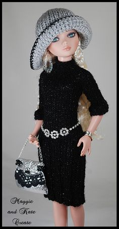 silver4   Explore Maggie and Kate Create's photos on Flickr.…   Flickr - Photo Sharing! Crochet Barbie Patterns, Crochet Doll Dress, Barbie Clothes Patterns, Crochet Barbie Clothes, Clothing Patterns, Barbie Kids, Woolen Clothes, Barbie Wardrobe, Crochet Toddler