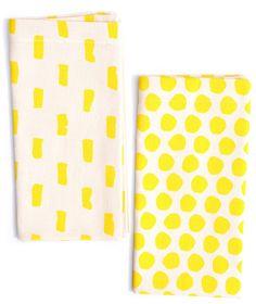 Mixed Print Napkin Set // via leif