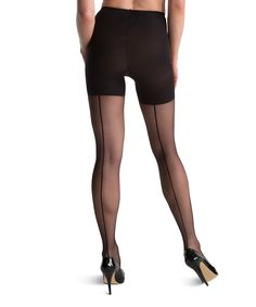 Sheer Fashion Sheer Backseam Tights - Black. LOVE LOVE LOVE these retro/vintage stockings WITH the extra SPANX control. Perfect combination!!!