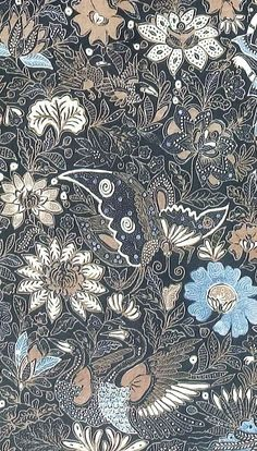 BATIK of Javanese [Indonesian] origin is melted wax applied to cotton cloth. In Yogyakarta , I watched fascinated as tradition. Motifs Textiles, Textile Patterns, Print Patterns, Art Chinois, Indonesian Art, Batik Art, Batik Fashion, Javanese, Art Japonais
