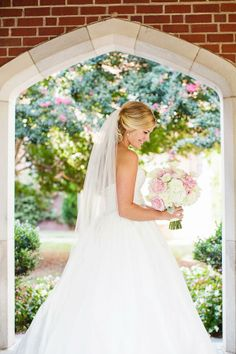 """I had never understood why girls cry when they try on wedding dresses or find the dress of their dreams, but I became that girl that day."" - #AmsaleBride Caroline on finding our ""Mackenzie"" gown  (Photo: Robyn Van Dyke Photography via @Southern Weddings Magazine)"