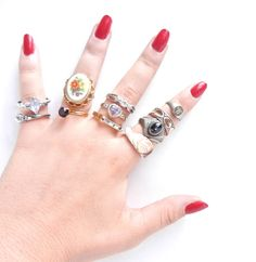 Vintage Ring Lot  Huge Costume Jewelry Destash by MaejeanVINTAGE, $45.00