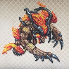 Ifrit - Final Fantasy perler bead sprite by lperryperler