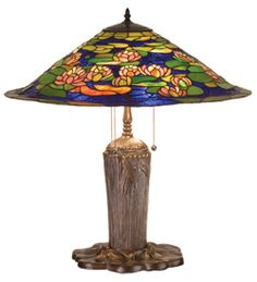 "Meyda 25""H Tiffany Pond Lily Table Lamp"