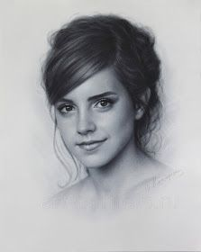 Pencil Portrait Mastery - Emma Watson drawing portrait by DRY BRUSH by Drawing-Portraits. -- and this is really awesome though - Discover The Secrets Of Drawing Realistic Pencil Portraits Realistic Pencil Drawings, Pencil Art Drawings, Charcoal Drawings, Horse Drawings, Art Sketches, Pencil Portrait, Portrait Art, Drawing Portraits, Dry Brush Painting