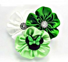 SPIFFY POOCHES Satin Rosette Flower Dog Collar Accessory St. Patrick's Day  #SPIFFYPOOCHES