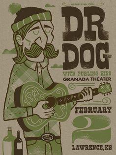 Dr. Dog Concert Poster
