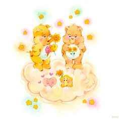Care Bears and Care Bear Cousins: Treat Heart Pig and Friend Bear on a Cloud