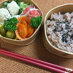 Chicken meat ball & festive red rice – Japanese lunch box