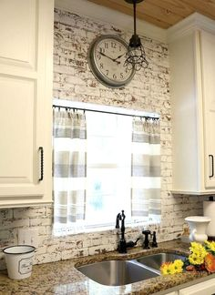 4 Exciting Clever Ideas: Old Kitchen Remodel On A Budget small kitchen remodel u-shape.Galley Kitchen Remodel Diy kitchen remodel with island. Farmhouse Kitchen Curtains, Modern Farmhouse Kitchens, Farmhouse Kitchen Decor, Home Decor Kitchen, Diy Kitchen, Home Kitchens, Rustic Farmhouse, Farmhouse Ideas, Awesome Kitchen