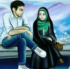 kumpulan kartun romantis parf 3 - my ely Love Cartoon Couple, Cute Couple Art, Cute Love Cartoons, Anime Love Couple, Girl Cartoon, Lovely Girl Image, Cute Girl Pic, Cute Muslim Couples, Cute Couples