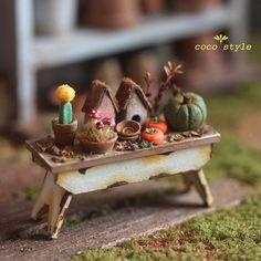 Кукольная жизнь миниатюры художницы onoha ori, фото № 12 Miniature Plants, Miniature Fairy Gardens, Miniature Dolls, Miniature Houses, Cute Crafts, Craft Stick Crafts, Craft Sticks, Craft Art, Mini Greenhouse