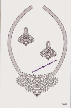 Lots of jewellery patterns Lace Necklace, Lace Jewelry, Bobbin Lacemaking, Bobbin Lace Patterns, Lace Heart, Needle Lace, Lace Making, Lace Design, Jewelry Patterns