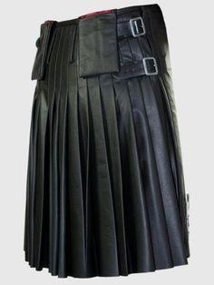 LEATHER KILT SCOTTISH KILT 100% ORIGINAL COW Leather Kilt