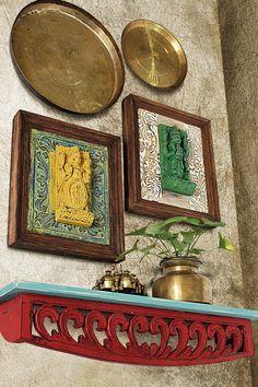 India Home Decor, Ethnic Home Decor, Antique Wall Decor, Vintage Home Decor, Indian Wall Decor, Home Entrance Decor, Indian Home Interior, Wall Decor Design, Empty Wall
