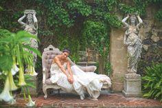 gorgeous grey settee Maui wedding rentals