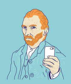 van gogh selfie! if van gogh was around today...