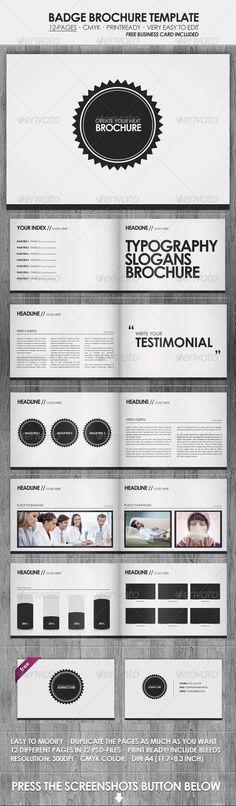 Badge - Brochure / Presentation Template