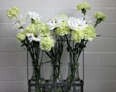 Chic Flower Arrangements- from Garden or Grocery Store