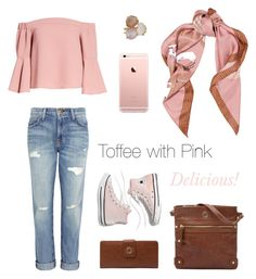 """Toffee with Pink"" by kerikitbags on Polyvore featuring Ippolita, Madewell, Current/Elliott, Topshop and Moschino"