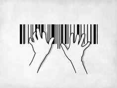 Jessica It strikes me how the barcode represents who things at once I would like to use this in my logo because the barcode is a good way of defining your identity, and part of my identity is playing the piano