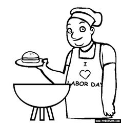 labor day coloring pages | Print This Page | American Holidays ...