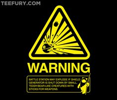 Empire Warning Label by RyanAstle - Shirt sold February 9th at http://teefury.com