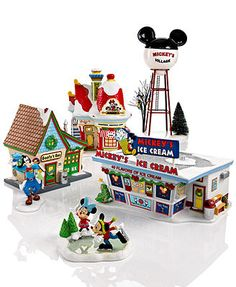 Department 56 Collectible Disney Figurines, Mickey's Christmas Village Collection