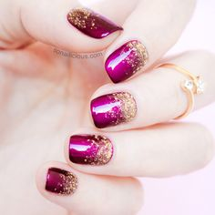 Perfect Glitter Gradient - tutorial: http://sonailicious.com/perfect-glitter-gradient-tutorial/