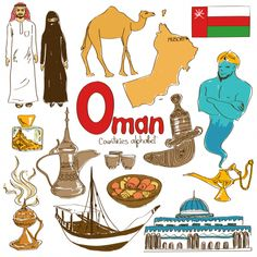 'O' is for Oman in this next alphabetical countries free download. Help your child learn about the country of Oman and its