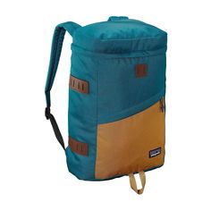 The Patagonia Toromiro Pack 22L has a classic, top loader design with a padded laptop sleeve and accessory pockets to haul everything you need in style.