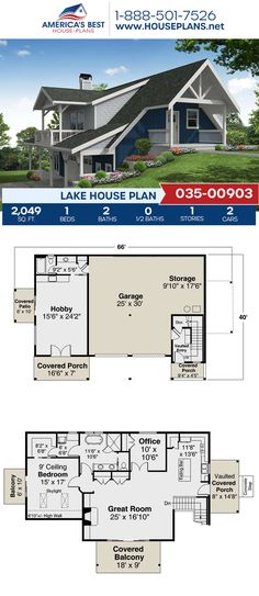 Get to know this Lake home design, Plan 035-00903 features 2,049 sq. ft., 1 bedroom, 2 bathrooms, a kitchen island, an open floor plan, a flex room, and an office. #lakehouse #architecture #houseplans #housedesign #homedesign #homedesigns #architecturalplans #newconstruction #floorplans #dreamhome #dreamhouseplans #abhouseplans #besthouseplans #newhome #newhouse #homesweethome #buildingahome #buildahome #residentialplans #residentialhome Lake House Plans, Best House Plans, Dream House Plans, Floor Framing, Flex Room, Open Layout, House Front, Open Floor, New Construction