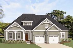 Craftsman House Plan with Bonus Room - 46329LA thumb - 01