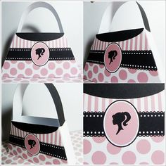 Vintage Barbie Purse Box Printable Digital DIY di PAPERFROLICS2012