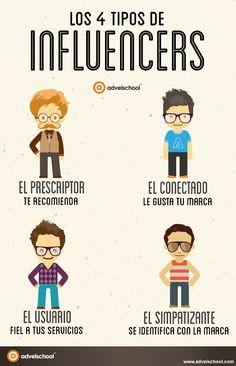 4 tipos de Influencers #infografia #infographic #marketing