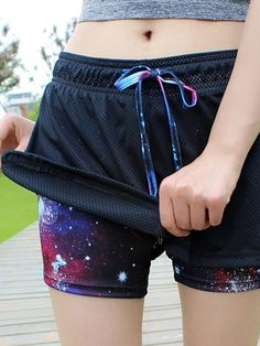 b2833c1293ef Hot Breathable Pretend Two-pieces Sports Shorts Elastic Yoga Running Short  Pants For Women Online