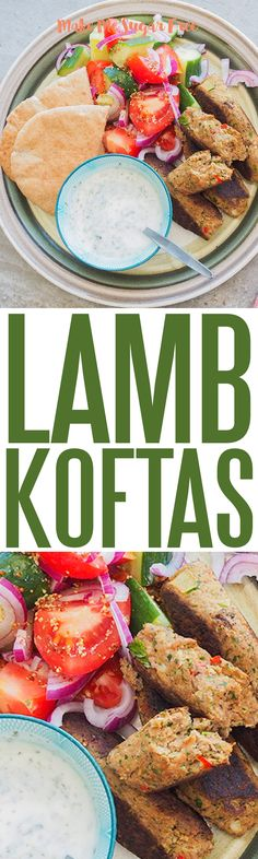 Spicy Lamb Koftas with a cool minty dip. Lamb Koftas, Pesto, Sugar Free, Dip, Spicy, Salsa
