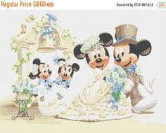 """ON SALE Counted Cross Stitch Patterns - mice just married also customizable- 23.64"""" x17.71"""" - L481 by lovemystitch on Etsy https://www.etsy.com/listing/208468429/on-sale-counted-cross-stitch-patterns"""
