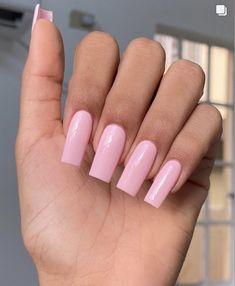 Baby Pink Nails Acrylic, Acrylic Nails Nude, Long Square Acrylic Nails, Long Square Nails, Tapered Square Nails, Simple Acrylic Nails, Long Nail Designs Square, Pink Acrylic Nail Designs, Ballerina Acrylic Nails
