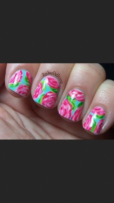 Lilly Pulitzer nails!!!