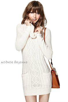 54b0c21d285 Платье с хомутом и карманами - Модное вязание Simple Outfits