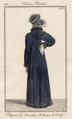Redingote 1811 Very unusual sleeve setting for this early.