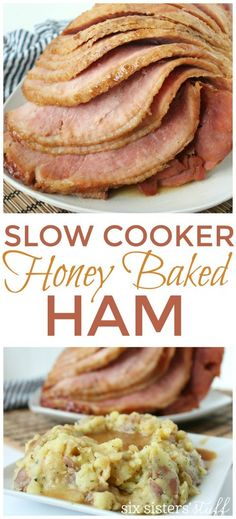 Slow Cooker Honey Baked Ham Recipe Forget the turkey! This slow cooker honey baked ham is a perfect Thanksgiving or Christmas dinner idea. Best Slow Cooker, Crock Pot Slow Cooker, Crock Pot Cooking, Slow Cooker Recipes, Crockpot Recipes, Crockpot Dishes, What's Cooking, Ham Recipes, Cooking Recipes