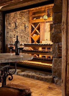 The wine cellar ...