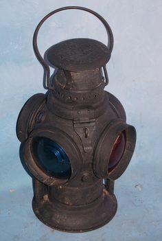 Old Railroad Lanterns | Antique Adlake Non Sweating Railroad Lantern | eBay