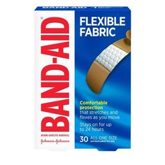 Try Band-Aid Brand Flexible Fabric Adhesive Bandages to cover and protect minor wounds. Made with Memory-Weave fabric for comfort and flexibility, these first-aid wound care bandages stretch and flex as you move. Each bandage features a Quilt-Aid Comfort Essie Nail Colors, Wound Care, Pad Design, Johnson And Johnson, Band Aid, First Aid Kit, Flexibility